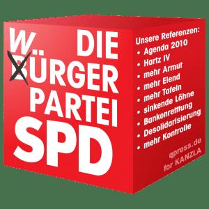 SPD-Cube Logo Wahlsolgan Wuerger Partei GroKo Koalition Verrat qpress