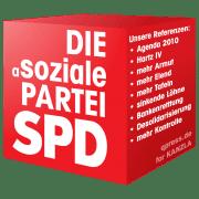 SPD-Cube Logo die asoziale Partei qpress