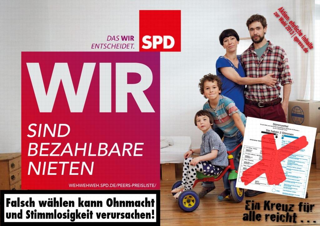 SPD-Genossen 4 Jahre beitragsfrei im Fall der großen Koalition SPD bezahlbare Nieten Wahlkamp grosse koalition demokratie endphase verrat