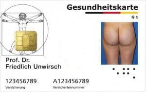 die_gesundheitskarte_arschkarte_digitaler_mensch_Krankenkasse_Ausweis_Datenissbrauch_glaeserner_Patient