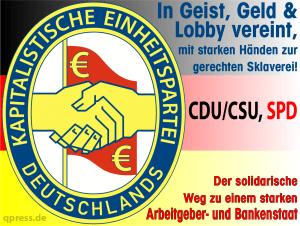 Kapitalistische-Einheitspartei-KED-CDU-CSU-SPD-Politbuero-Zentralkommitee