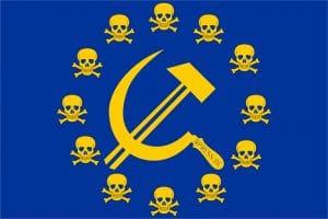 Wer soll in Europa künftig über Hinrichtungen und Massenerschießungen entscheiden Flag_of_Europe Skull Freibeuter toedliches Europa Polit-Kmmissare-qpress