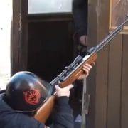 Kiev friedliche Demonstranten beim gezielten Protest gegen die Regierung Janukowytsch