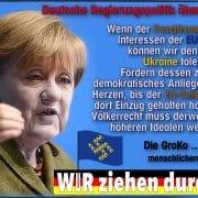 Merkel kalkweiss Ukraine Faschisten an die Macht qpress