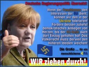 Bekenntnis der EU zum Faschismus ist überfällig Merkel kalkweiss Ukraine Faschisten an die Macht qpress