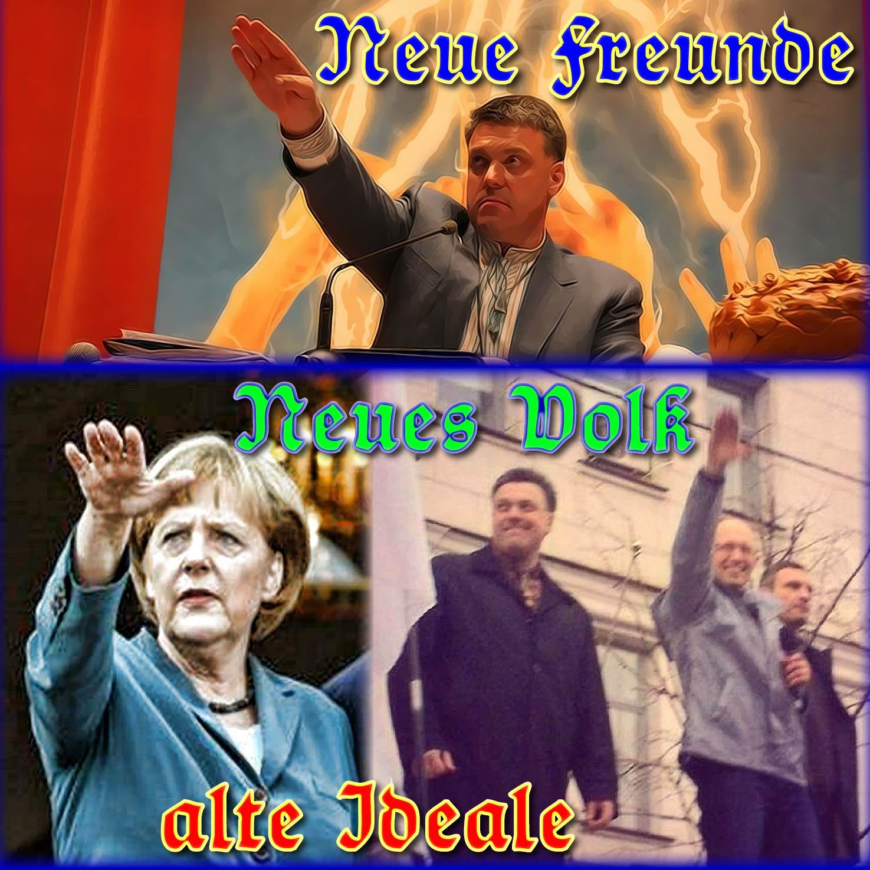 Krisensitzung Merkel-Junta verliert endgültig das Vertrauen ins Volk Neue Freunde neues Volk alte Ideale as neue Volk lauert in der Ukraine Merkel qpress Klitschko Umsturz