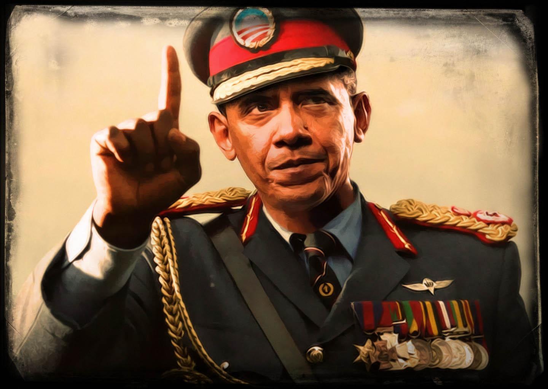 Oberkommandierender Barack Hussein Obama auf Kriegspfad Diktatur fuer den Frieden Dagger Kompex Darmstadt Rede ans Volk Blutzkrieg Blitzbesuch