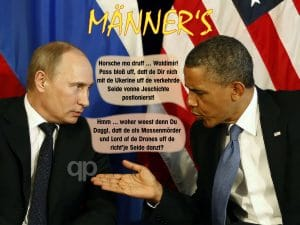 USA besorgt Vernichtung des IS Putin obama mens talk about ukraine and history Kopie