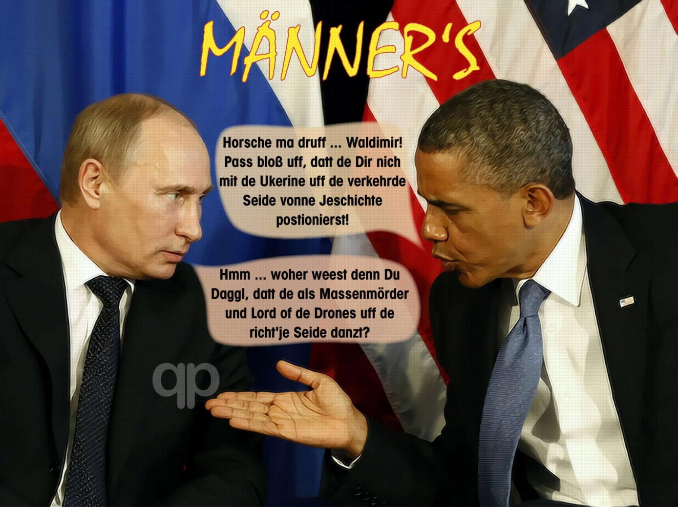 Merkels neustes Hartz IV Opfer in Russland ausfindig gemacht Putin-obama-mens-talk-about-ukraine-and-history-Kopie