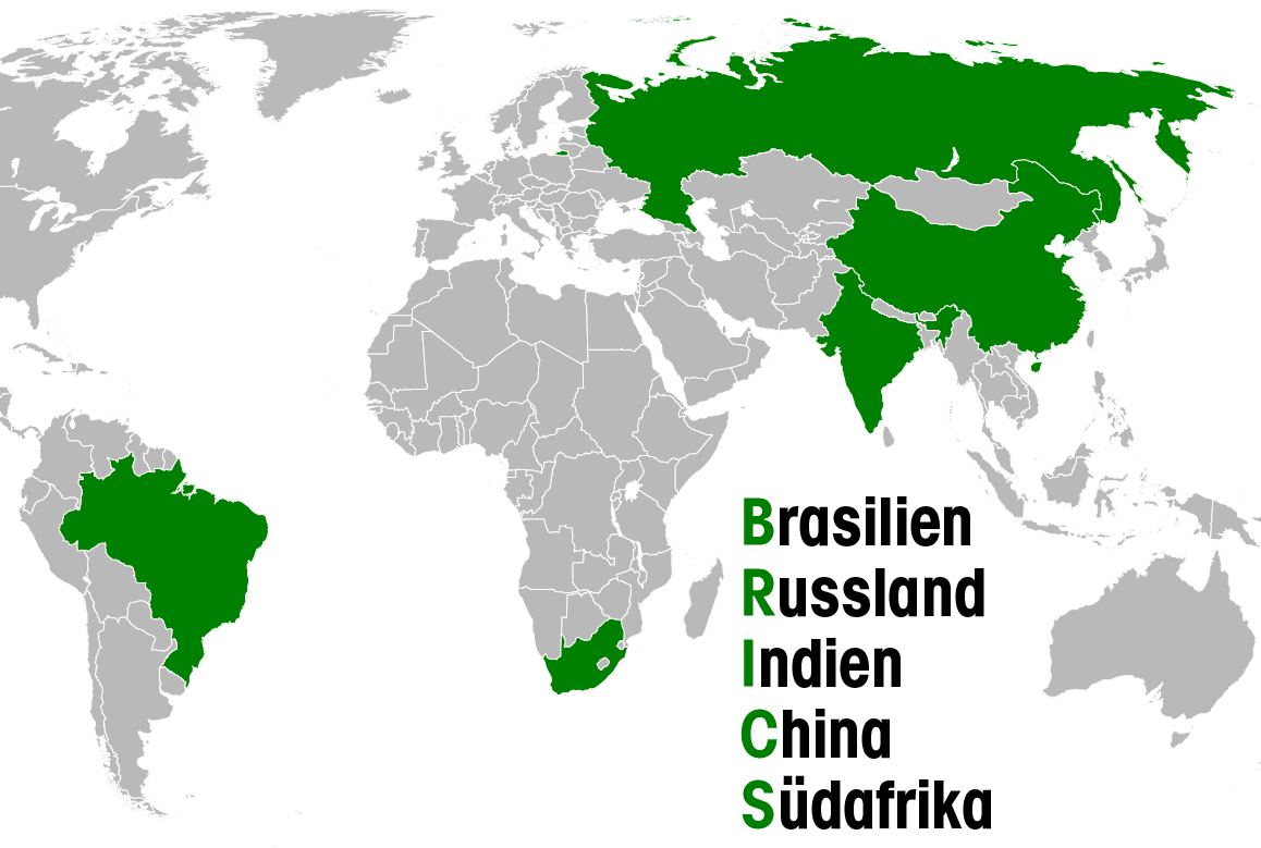 Rubel attackiert Dollar Russlands Planspiele für eine Wirtschaft ohne DollarBRICS-Staaten Brasilien Russland Indien China Suedafrika-01