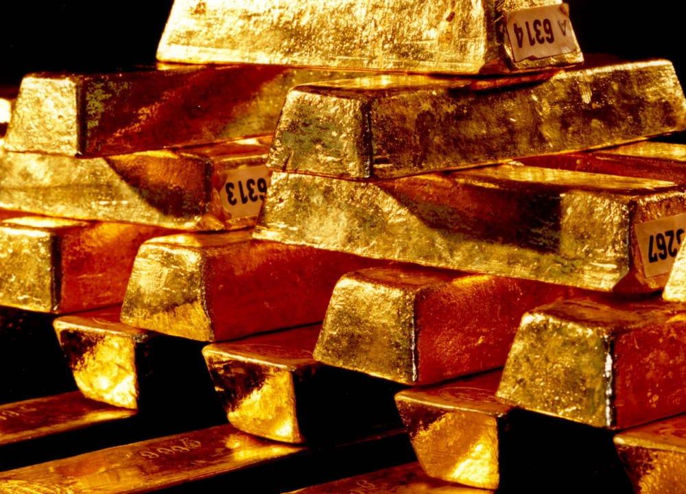 Goldbarren der deutschen Bundesbank jetzt eilig expatriiert evakuiert 1000 Tonnen aus Angst vor dem Krieg und dem russischen Baeren