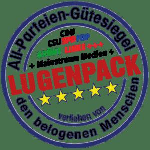 Lügenpresse und Presstituierte feiern 135 Jahre gekauften Journalismus Luegenpack Siegel All-Parteien plus Mainstream verliehen von den belogenen Menschen Pressefreiheit Luegenmonopol