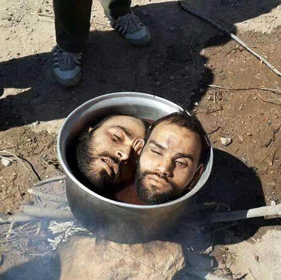 Syrische Freiheitskaempfer Kopfgalerie Islamisten Demokraten Syrien Ukraine Frieden Freiheit Demokratie Kopf in Kochtopf abkochen