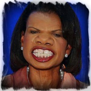 Condoleezza Rice Gondel Lisa Reis Kriegstreiberin Aussenministerin unter Bush Hetzer