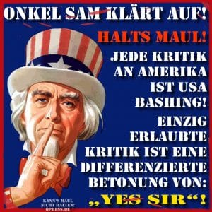 Uncle Sam droht mit Truppenabzug - GENIAL
