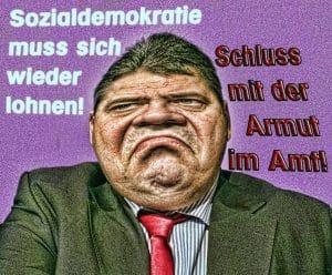 Das GroKo-Sauspiel: Kleines, dickes Gabriel sucht Volksnähe sigmar gabriel sozialdemokratie muss sich lohnen schluss mit der armut im amt Gierhals Gierschlund