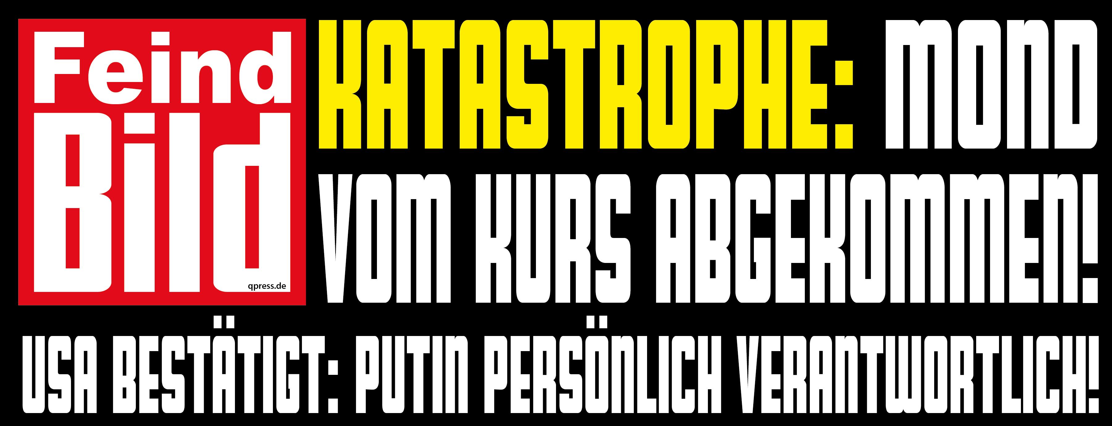 Putin greift an, will EU über rechte Parteien vernichten Feind BIld Putin Ukraine ist schuld Propaganda Schlagzeile qpress
