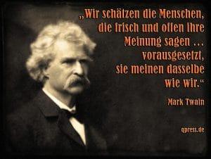 Geistige Insolvenz, Deutscher Journalisten Verband kurz vor der Selbstauflösung Mark Twain - Meinungsfreiheit