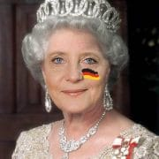 Queen Angela Moertel Merkel from Germany Crown Krone mit Flagge Verrat an Deutschland