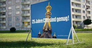 Görlitzer protestieren - Bauernland in Junckers Hand Görlitzer meinen: 25 Jahre sind genug
