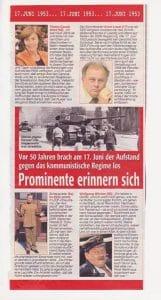 BLÖD-Presse über den DDR Aufstand - Prominente mit Erinnerungslücken zum Volksaufstand 1948