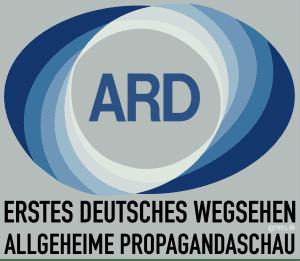 Deutsche mit Regierung zufrieden wie nie oder echt gekaufte Meinung Erstes Deutsches Wegsehen Altes-ARD_Logo Deutsche Allgemeine Propagandaschau Staatspropaganda qpress