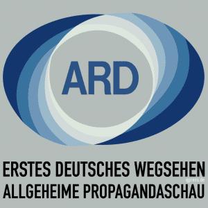 GEZ ist massive Grundrechtsverletzung per Staatsvertrag Erstes Deutsches Wegsehen Altes-ARD_Logo Deutsche Allgemeine Propagandaschau Staatspropaganda qpress quadrat
