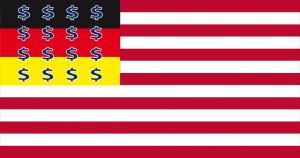 """Ist die BRD eine Rechtstotalitäre Diktatur oder eine """"amerikanische Satrapie"""" Flag_of_the_United_States USA DE Satrapie-01"""