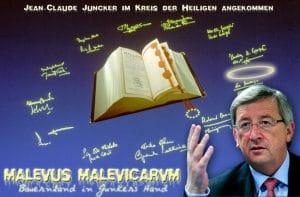 Görlitzer protestieren - Bauernland in Junckers Hand Junker im Kreis der Heiligen angekommen.