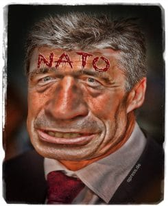 NATO-Beitritt Anders Fogh Rasmussen Hassmussen NATO Generalsekretaer Kriegstreiber Luegner Spalter