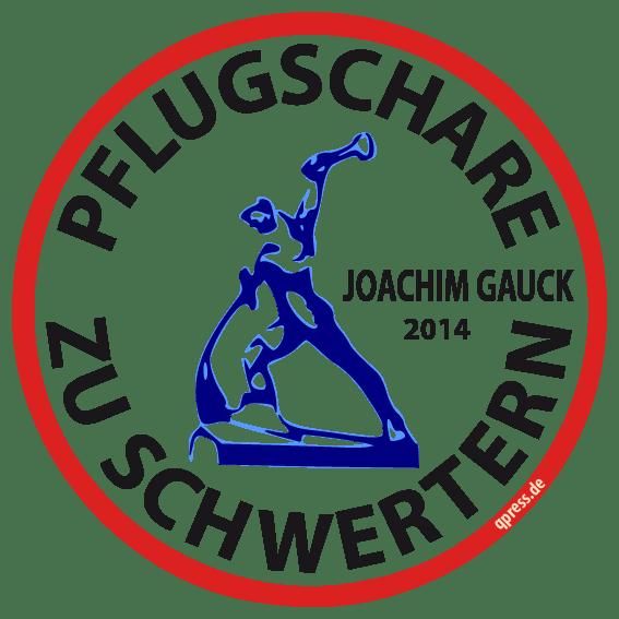 Pflugschare zu Schwertern Joachim Gauck 2014 qpress