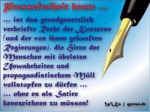 BILDungsverweigerer boykottieren Springer-Stiefel-Presse pressefreiheit_heute_ist_spruch_definition_wika_qpress