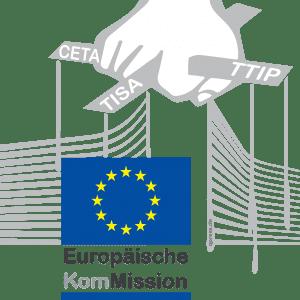 Eklat: Polizei schließt falschen TTIP Leseraum in Berlin Europaeische Kommission Juncker Logo Puppenspieler ftrmfgesteuert CETA TTIP TISA Politik Europa qpress 150-01