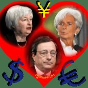 Heart and Soul of Gold Herz und Seele des Geldes currencies Draghi Lagarde Yellen Euro Dollar Money qpress fakeworld EZB Zentralbank Geldschwindel Betrueger-01