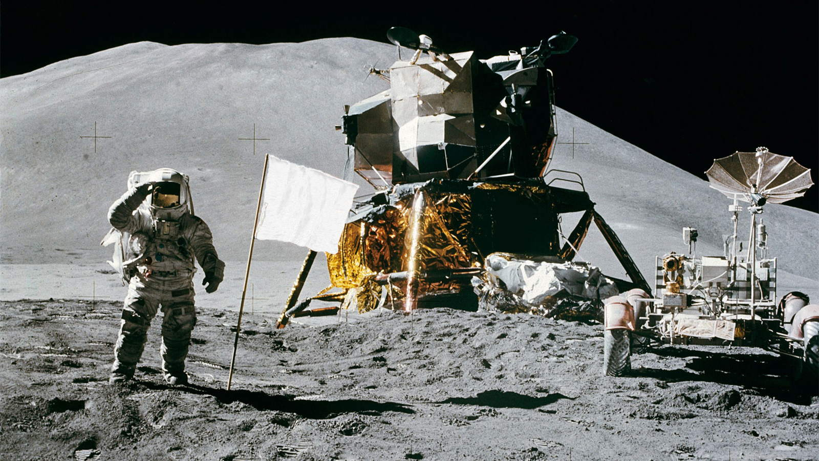 US-Flagge vom Mond geklaut all us flags on the moon are gone or white moon landing thruth discovert by china