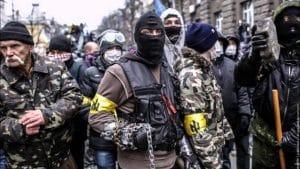 Flüchtiger Bundeswehrsoldat kämpft in der Ukraine auf der falschen Seite ukraine rechter sektor deustche werte streiter fuer deutschtum und eine saubere rasse rassisten neonazis gewaltbereite vollpfosten Idioten