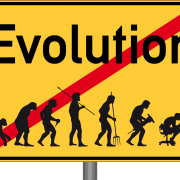 Ortsschild_Evolution_Evaluation_schoepfung_degeneration_fortschritt_rueckschritt_menschheit_darwin_Theorrie