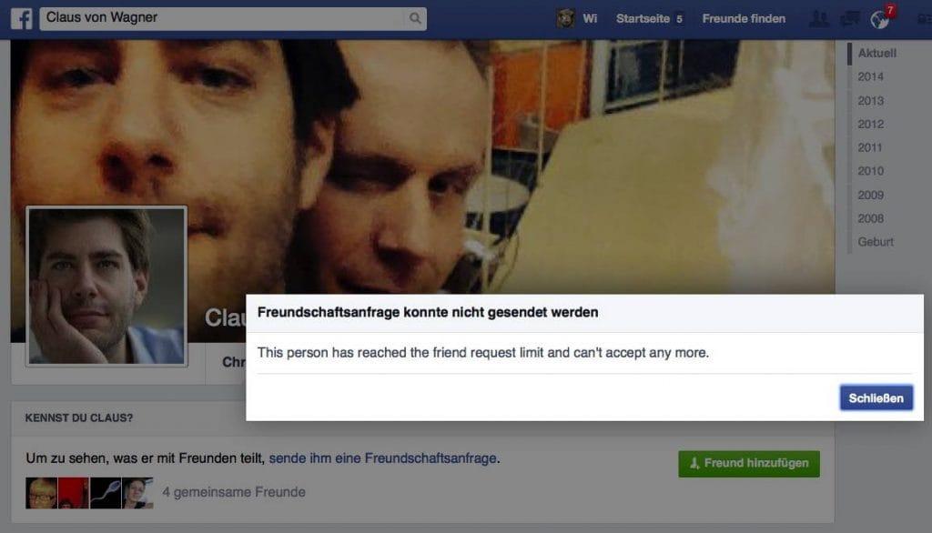 Claus von Wagner Freund werden ist schwer Facebook reguliert das Leben von Kabarettisten qpress