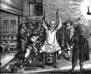 Hintern des Sklaven blutig geschlagen