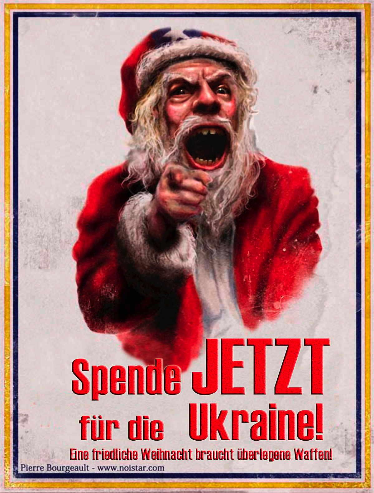 Spende jetzt fuer die ukraine weihnachten braucht ueberlegene waffen