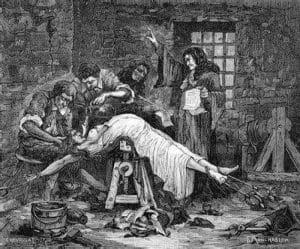 Schwärzungen des CIA-Folterberichts enthüllt auf die folter spannen streckbank folter mittelalter hexenhammer hexenverbrennung foltr in der neuzeit
