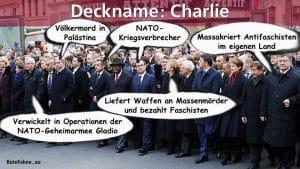 Charlie Flase FlagAblenkung new Gladio Operation charlie jesus je suis volksverarschung