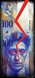 Schweiz beendet Selbstmordversuch, deutsche Kommunen kommen dabei ums Leben Switzerland Schweiz 100 Francs Schweizer Franken Geld Waehrung Schweiz Euro Paritaet Wechselkurs Geldschein Scheingeld Geldnote Europa Wechselkurse