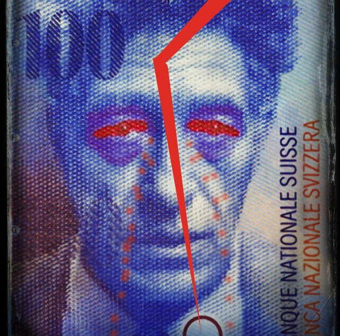 Switzerland Schweiz 100 Francs Schweizer Franken Geld Waehrung Schweiz Euro Paritaet Wechselkurs Geldschein Scheingeld Geldnote Europa Wechselkurse Kopie