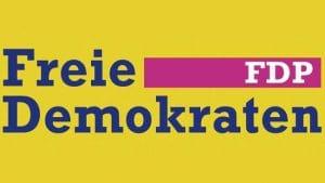 neues FDP Logo schmuddelgelb blau telekom schwul farbe letzter Versuch