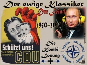 Der ewige Klassiker FeinBILD Russland Putin CDU Merkel Deutschland Wahlplakat 1950-2015