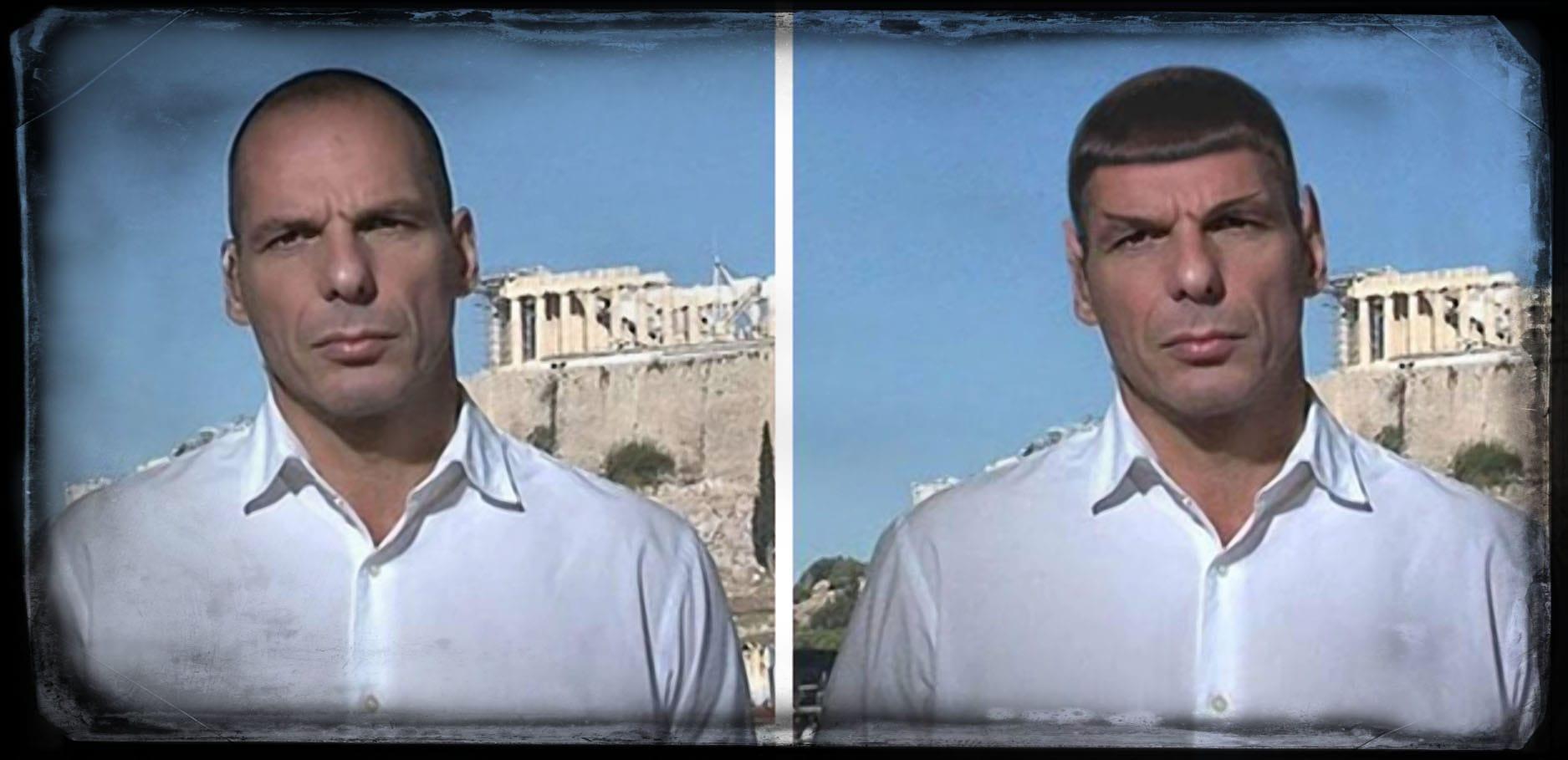 Yanis-Varoufakis-Spock griechenland finanzminister endloesung eurokrise euroausstieg waehrung geld streit sozialstaat enterprise spaceship
