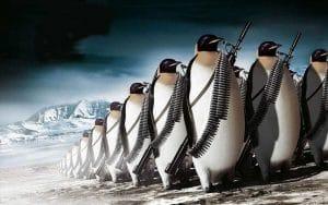 AS Terror Milizen In der Antarktis startender Marschlug Pinguin auf den Weg in die USA bedrohung der nationalen Sicherheit
