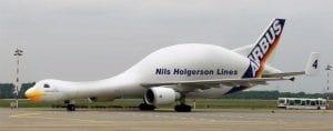Airbus-Spezial Flugzeug Nils Holgerson Lines Sonderanfertigung