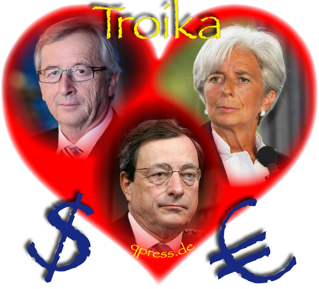 Heart and Soul of Gold Herz und Seele des Geldes currencies Draghi Lagarde Juncker Euro Dollar Money qpress fakeworld EZB Zentralbank Geldschwindel Betrueger Troika